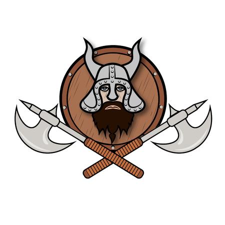 Vikings, vector symbol.