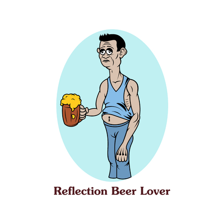 reflection: Reflection beer lover
