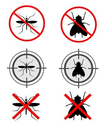 Mosquitoes and flies Vector