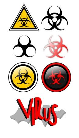 pandemic: Symbols that warn the presence of virus
