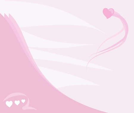 merged: Vector pink background with heart
