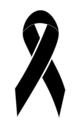 mourn: Black ribbon Archivio Fotografico