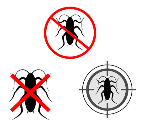 Signal for insecticide that kills cockroaches  Stock Photo - 8141128