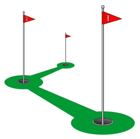 Drawing on a golf course Stock Vector - 8499134