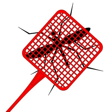 uccidere: Tavolozza rosso per uccidere le zanzare  Vettoriali