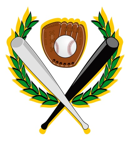 champions league: Coat of baseball with black and white bats