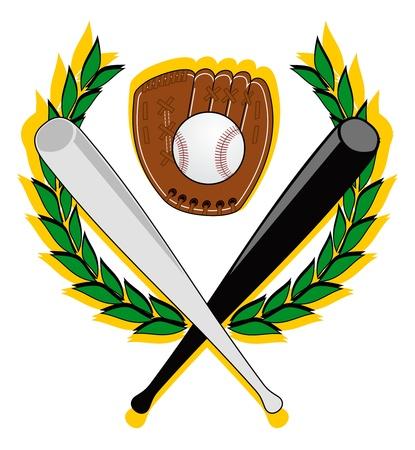 Manteau de baseball avec les chauves-souris noir et blancs