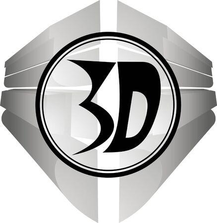 Abstract symbol indicating three-dimensional circular