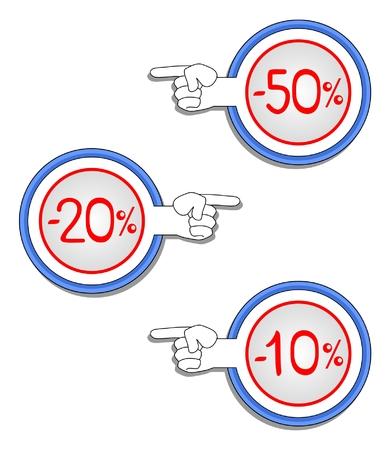 削減: 低価格化を示す図面ラベル
