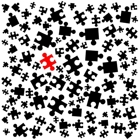surrealism: Abstract wallpaper of puzzle pieces