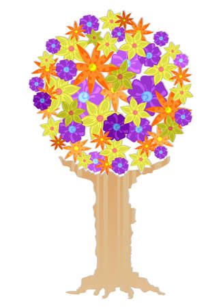 pollinate: Drawing tree full of flowers