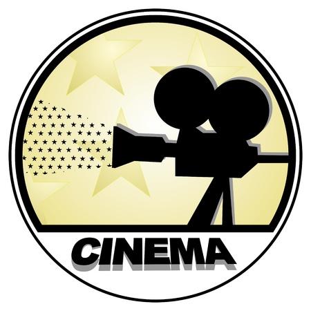 Zeichnung des alten Filmkamera
