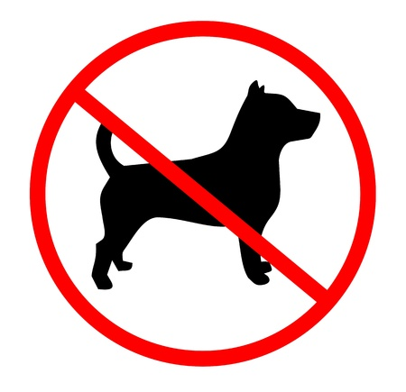 Signal indicating zone for dogs  Vector