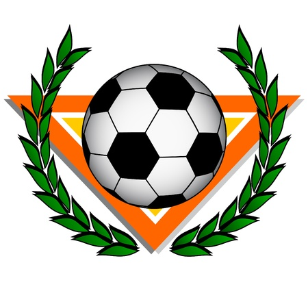 Soccer ball with laurel wreath  Vector