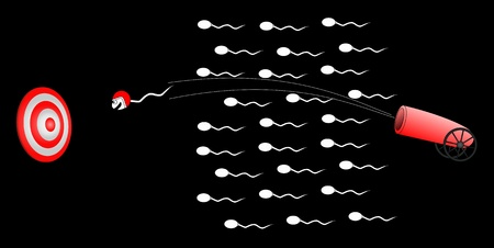 Sperm released from a cannon Stock Vector - 9183536