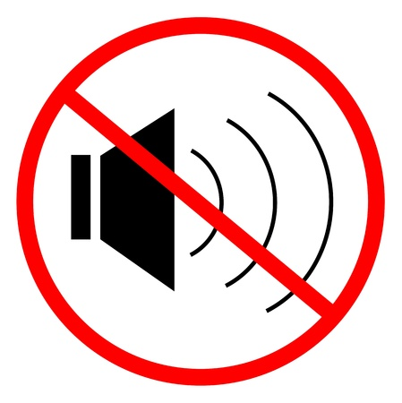 Signal/Rauschen Ban angibt Vektorgrafik