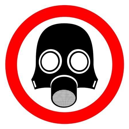 ventile: Signal, die Gefahren der giftiges gas  Illustration