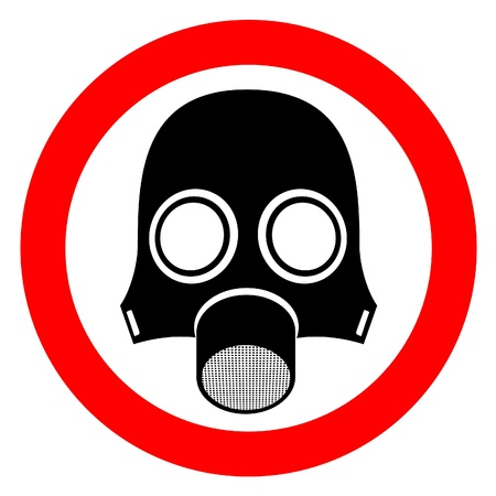 bacteriological: Signal indicating danger of poisonous gas  Illustration