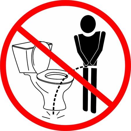 pis: Prohibido orinar fuera el inodoro