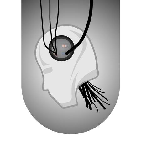 Drawing cyberpunk Stock Vector - 9425700