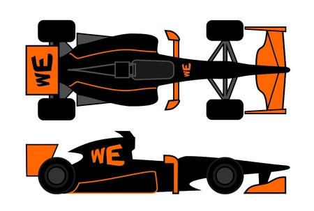 aileron: Racing car with current aerodynamic design