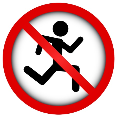 interdiction: Aucune course Illustration