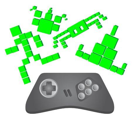 Abstract representation of retro video games  Stock Vector - 9425229