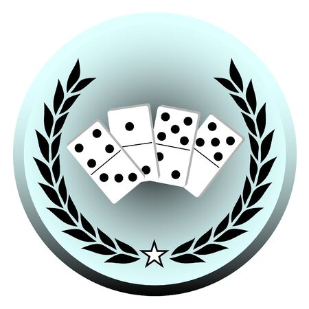domino: Emblem representing the game of dominoes  Illustration