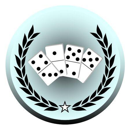 dominoes: Emblem representing the game of dominoes  Illustration