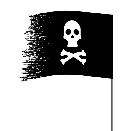 pirate flag: Pirate symbol on an abstract background