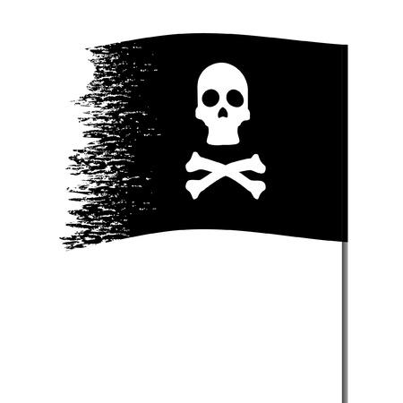 drapeau pirate: Symbole de pirate sur un fond abstrait