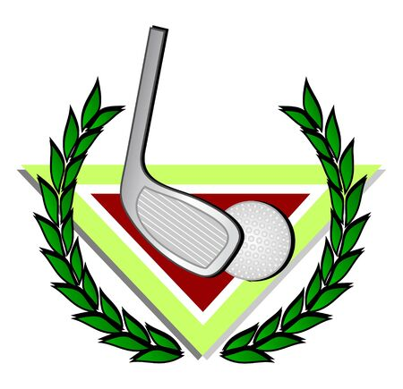 Golf ball with a crown of laurel Stock Vector - 9473462