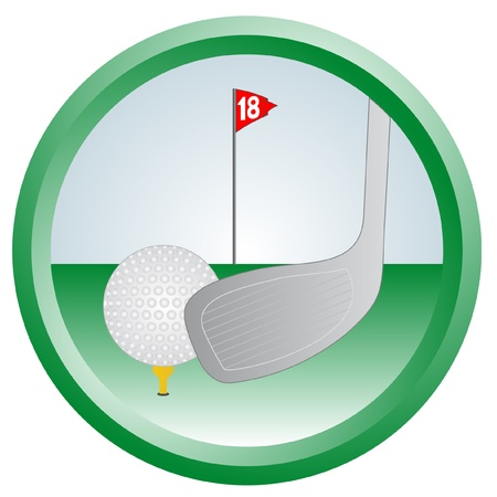 Circular signal representing the golf Stock Vector - 9473434