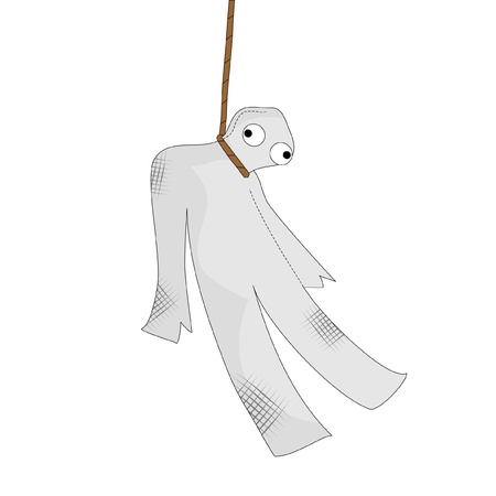 hanged: Hanged doll drawing