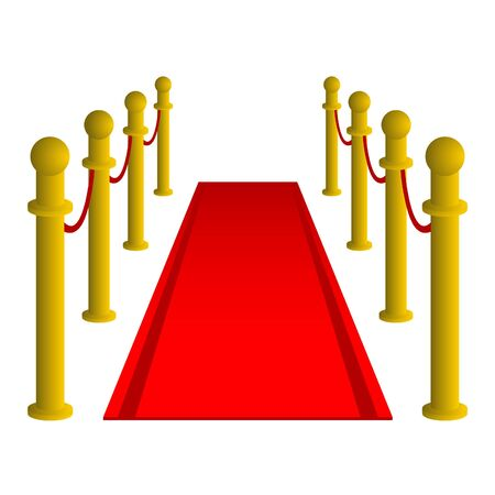 Drawing hall with red carpet for celebrities  Vector