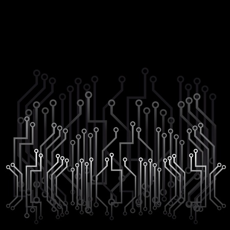 Black abstract background with technical design Stock Vector - 9513100