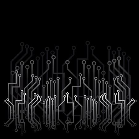 black appliances: Sfondo nero astratto con tecniche di progettazione  Vettoriali