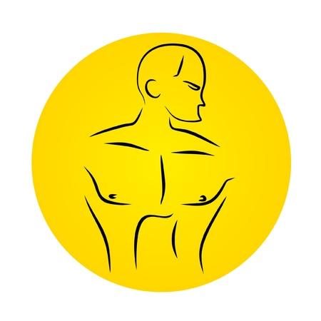circular muscle: Strong man Illustration