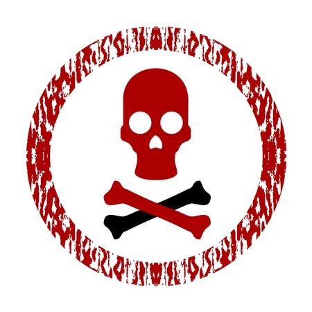 Circular signal with pirate symbol Stock Vector - 9513496