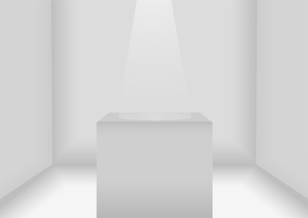 Lit white room for exhibitions  Vector