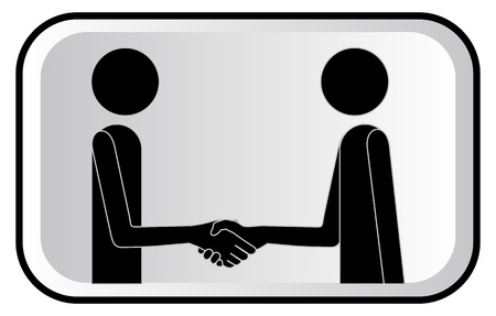 peace treaty: illustration with two friends puppets  Illustration