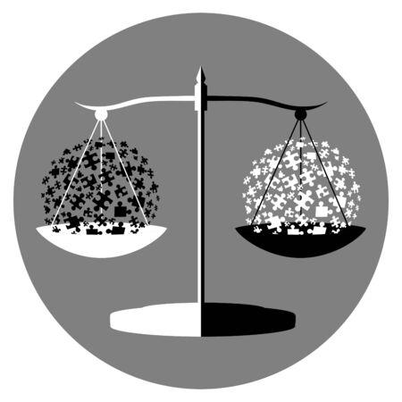 schwarze und wei�e Balance symbol Illustration