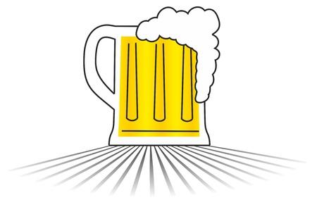 brew: Beer vector draw Illustration