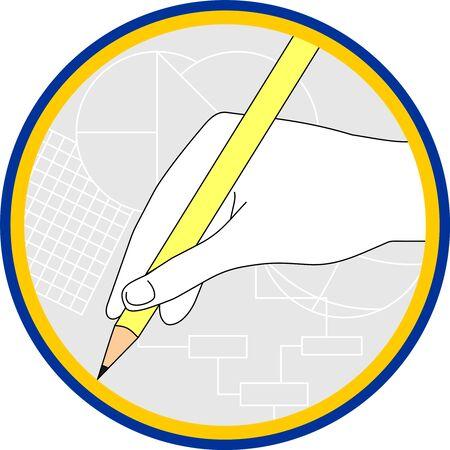 draftsman: hand circular drawing pencil drawing