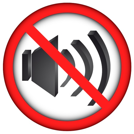 forbidden: no sound