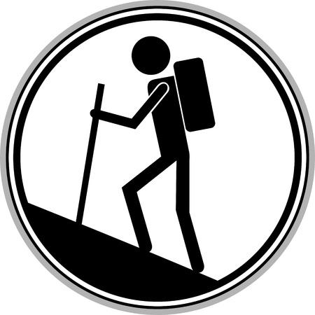 hiking: signal indicating walking area