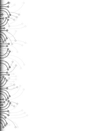 margine: Sfondo bianco con design speciale sul margine sinistro