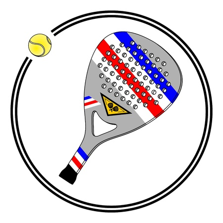 Paddle tennis racket in a circle