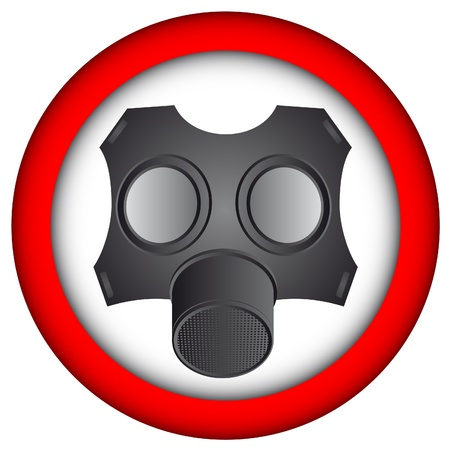 bacteriological: Warning signal of the use of protective mask