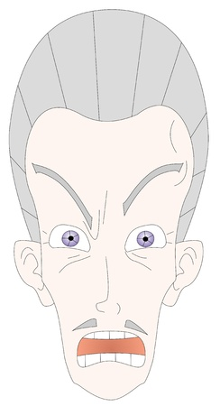 Illustration of the head of an angry man  Stock Vector - 9530513
